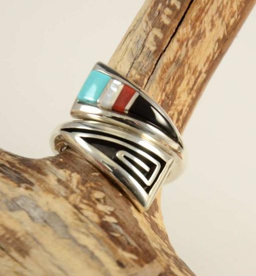 Albert Nells Navajo Inlay Ring