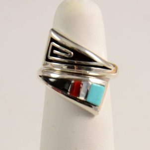 Albert Nells Navajo Inlay Ring