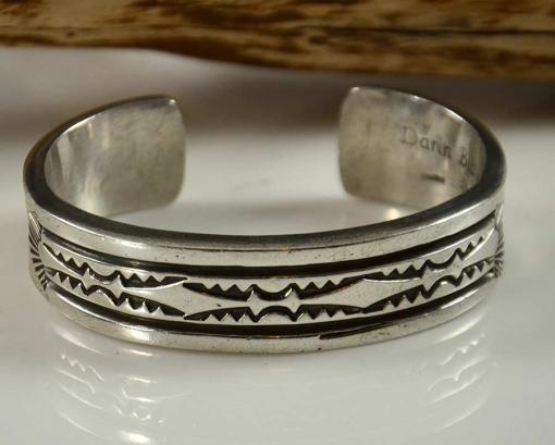 Heavy Navajo Silver Bracelet by Darin Bill
