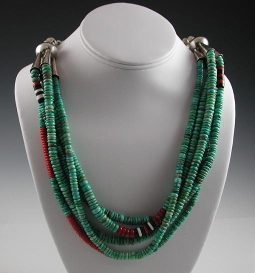 Larry Vasquez 5-strand bead choker