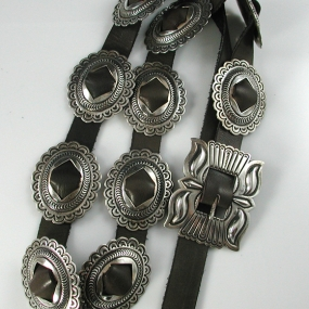Rocking Horse Ranch Silver Navajo Concho Belt