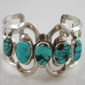 Stella Tracy Tyrone Turquoise Bracelet (Navajo)