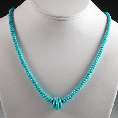 Piki Wadsworth Turquoise Bead Necklace