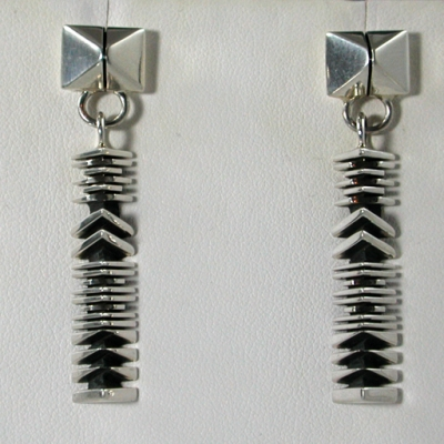 Geometric Sterling Silver Dangle Earrings by Isaiah Ortiz