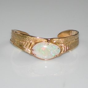 18kt Opal Gold Bracelet by Larry Vasquez