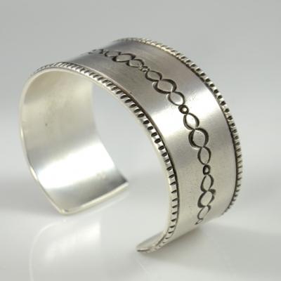 Silver Bracelet by Darryl Begay