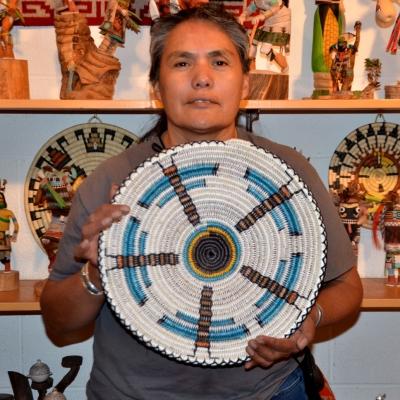 Navajo Basket by Sally Black, Sedona Indian Art