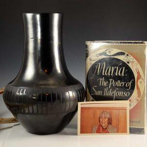 Maria Martinez Pottery Black Vase San Ildefonso