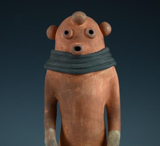 Mudhead Kachina by Michael Kanteena, Sedona Native American Art, Sedona Indian Art, Pueblo Pottery
