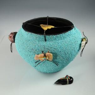 Zuni Fetish Pot by Edna Leki