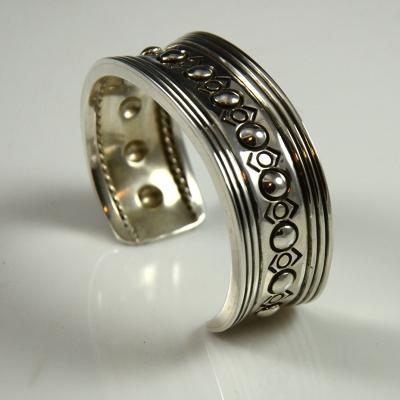 Navajo Silver Bracelet by Leonard Gene