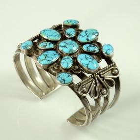 Sterling Silver #8 Turquoise Bracelet,