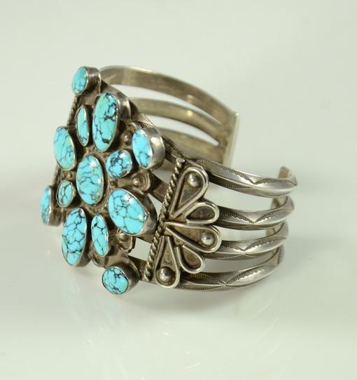 Sterling Silver #8 Turquoise Bracelet, Navajo Bracelet, Sedona Native American Jewelry, Sedona Turquoise Jewelry
