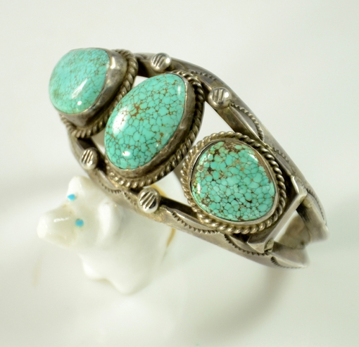 Sterling Silver #8 Turquoise Bracelet, Navajo Bracelet, Sedona Native American Jewelry, Sedona Turquoise Jewelry