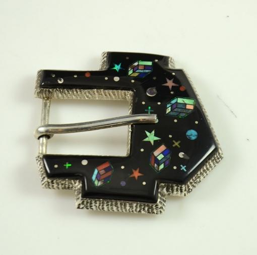 Inlaid Buckle by Alvin Yellowhorse, Sedona Indian Jewelry, Sedona Native American Jewelry, Sedona Indian Art
