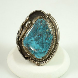 Navajo Bisbee Turquoise Ring, Sedona Native American Jewelry, Sedona Indian Art