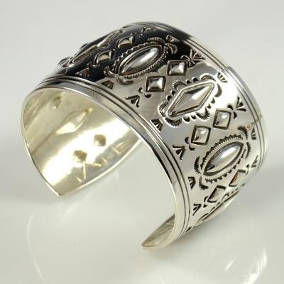Silver Bracelet by Fidel Bahe, Navajo Bracelet, Navajo Silver Bracelet, Sedona Indian Jewelry, Sedona Native American Jewelry