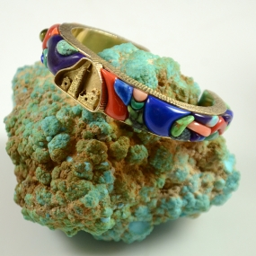 Cobble Inlay Bracelet by Navajo Artist Alvin Yellowhorse, Sedona Indian Jewelry, Sedona Native American Jewelry