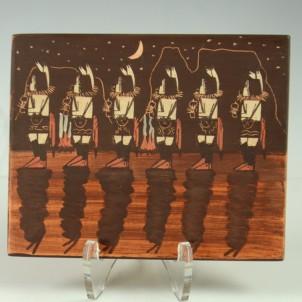 Hopi Tile by Ida Sahmie, Sedona Indian Art, Sedona Native American Art, Hopi Pottery