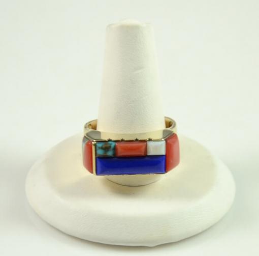 Gold Ring by Leo Yazzie, Sedona Indian Jewelry, Sedona Native American Jewelry