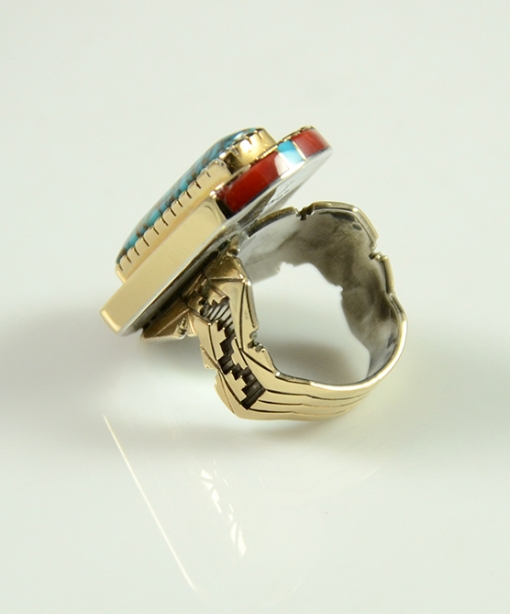 e Ring by Leo Yazzie, Gold Ring, Navajo Ring, Sedona Native American Jewelry