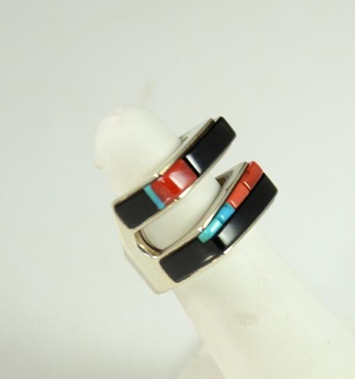 Inlaid Ring By Richard Chavez, Sedona Indian Jewelry, Sedona Turquoise jewelry