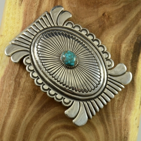 Thomas Jim Navajo Belt Buckle