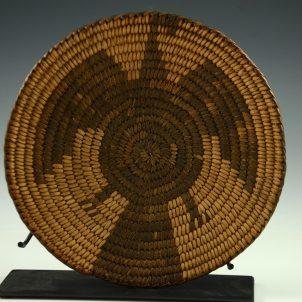 Vintage Pima Tray, Antique Pima Basket, Sedona Indian Art, Flagstaff Indian Art