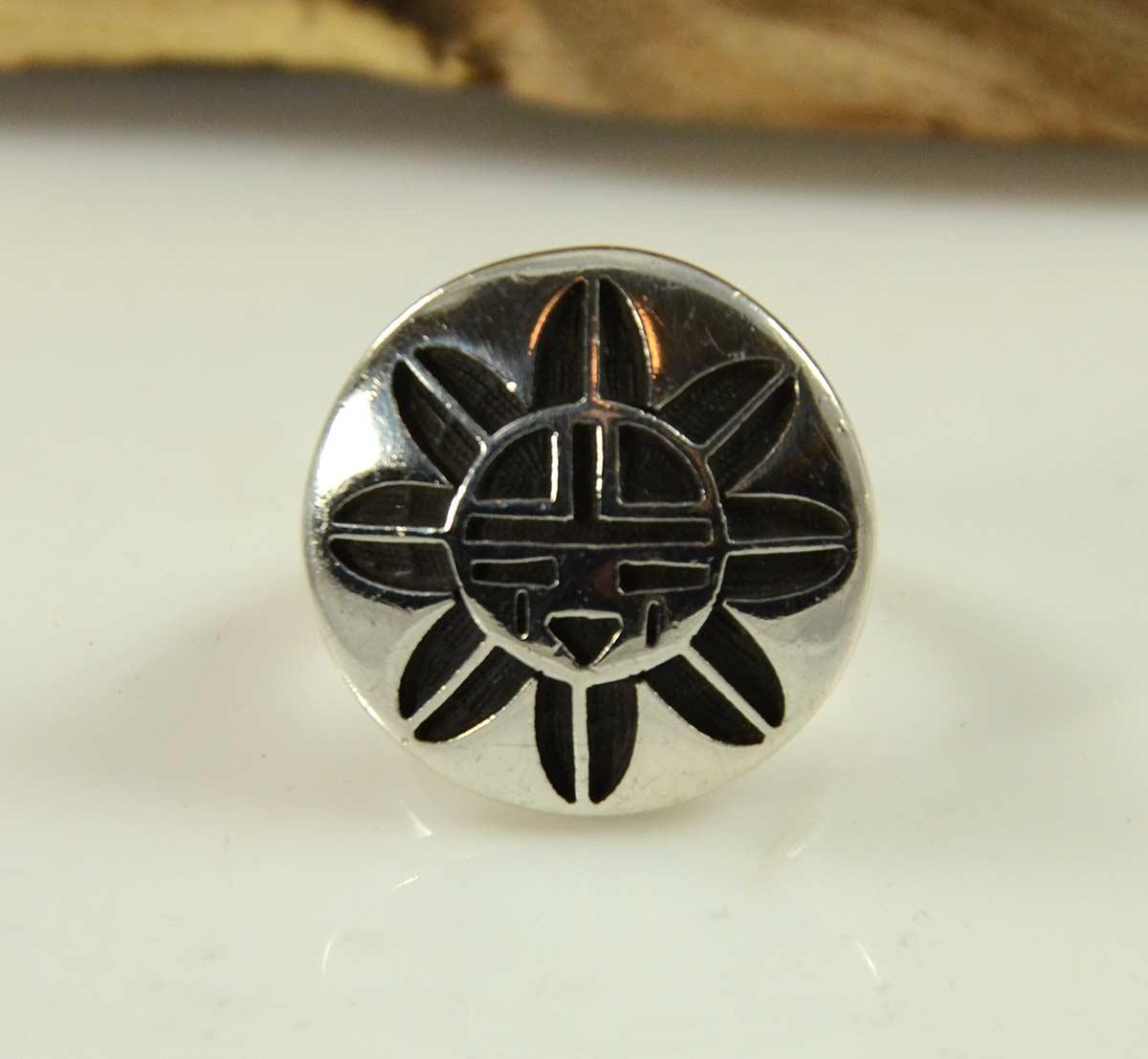 Hopi Overlay Ring By Bernard Dawahoya Hoel S Indian Shop