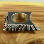 Sterling Silver Pointer Finger Ring by Isaiah Ortiz, San Filipe Pueblo