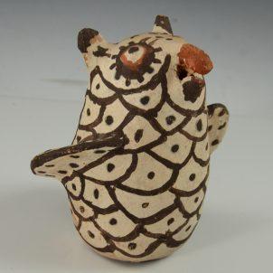 Vintage Zuni Pueblo Pottery Owl