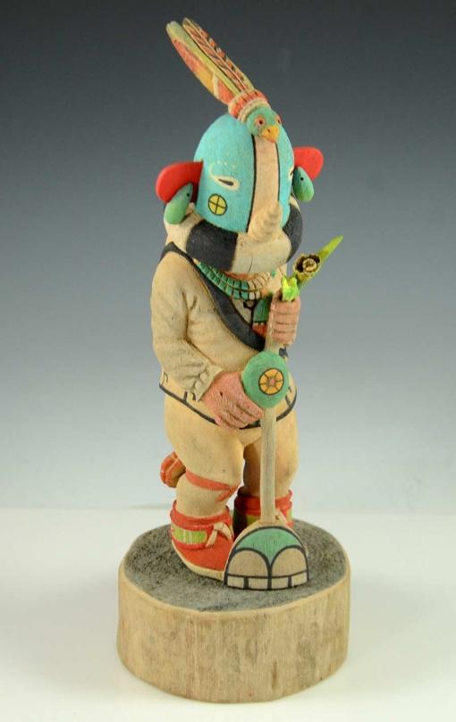 Kokopelli Kachina by Ted Pavatea, Hopi Kachina Carver