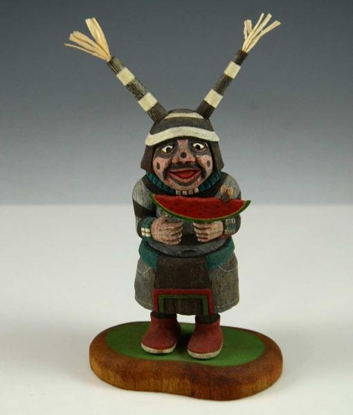 Koshare Kachina by Ted Pavatea, Hopi Kachina Carver