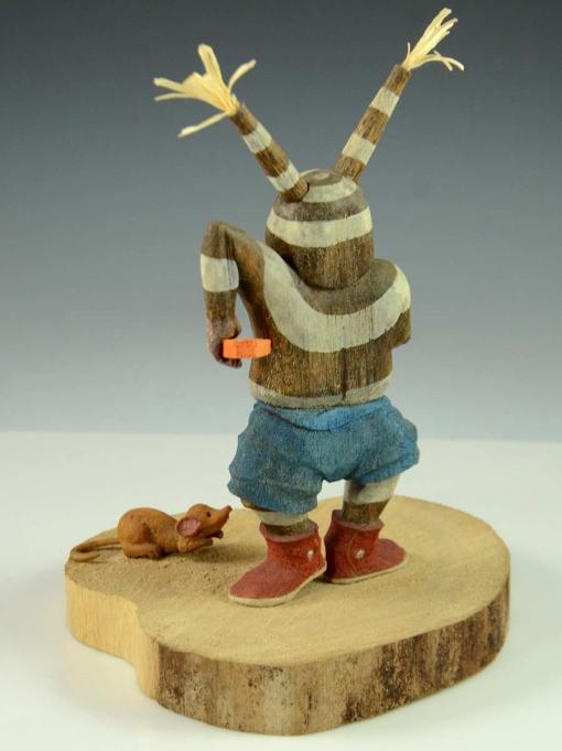 Koyala Kachina with Mouse by Hopi Artist, Ted PavateaKoyala Kachina with Mouse by Hopi Artist, Ted Pavatea