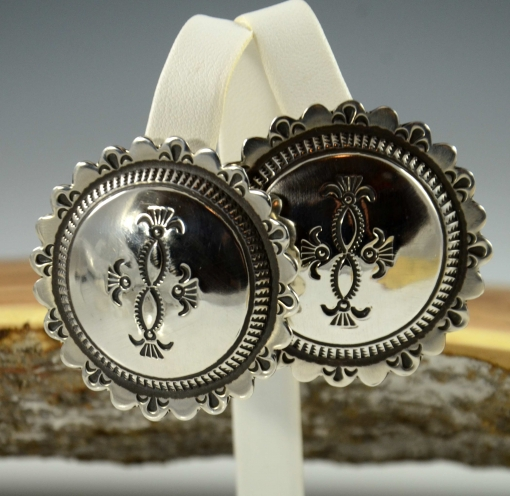Navajo Silver Earrings