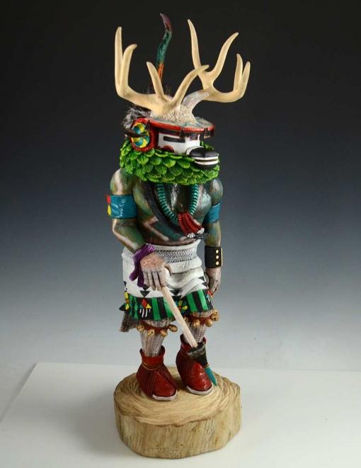 Deer Dancer Kachina by Hopi Artist, David Jensen