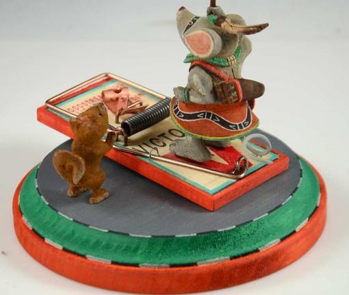 Mouse Warrior Kachina by Ted Pavatea, Hopi Kachina
