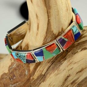 Navajo Inlay Bracelet by Earl Plummer