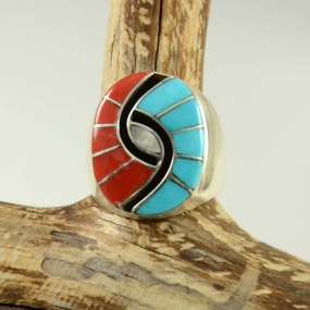 Zuni Inlay Ring by Amy Quandelacy