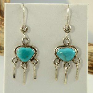 Turquoise Dangle Earrings by Dyammie Lewis