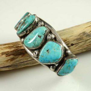 Vintage Navajo Morenci Turquoise Bracelet