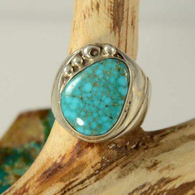 Lone Mountain Turquoise Ring Navajo