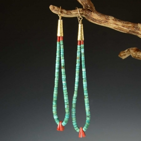 Sonwai Turquoise Jacla Earrings