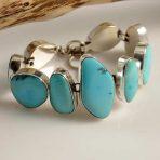 Michael Thompson Turquoise Link Bracelet