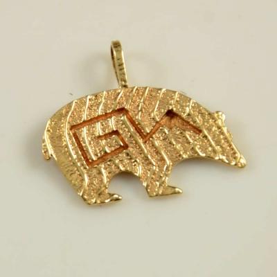 Ruben Saufkie Gold Bear Pendant