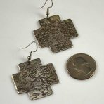 Jan Loco Hammered Silver Earrings