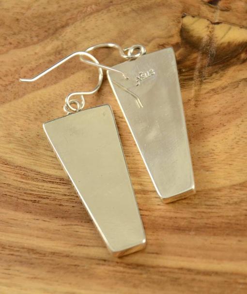 Albert Nells Silver Wirework Inlay Earrings