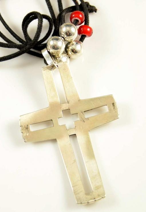 Waddie Crazyhorse Sterling Silver Cross