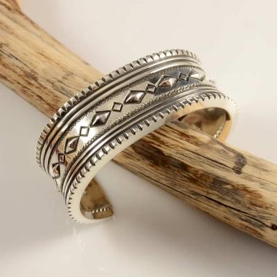Leonard Gene Navajo Men's Sterling Silver Bracelet