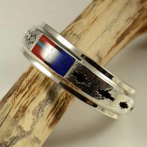 Herbert Taylor Silver Inlaid Bracelet